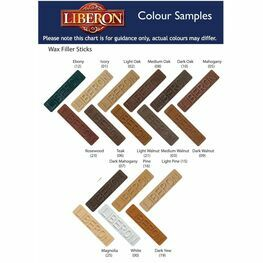 Liberon Wax Wood Filler Sticks