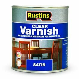 Rustins Polyurethane Clear Interior Satin Varnish
