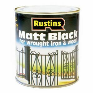 Rustins Quick Dry Black Matt Paint - 500ml