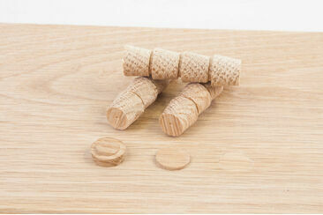 Cross Grained Wood Plugs 12mm (Dia)