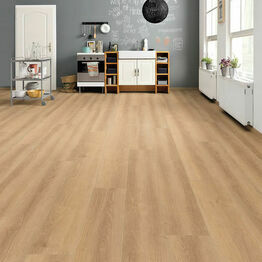 Haro Tritty 100 Gran Via 4V Oak Vienna Light Laminate Wood Flooring Pack of 2.68m2