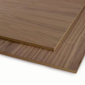 Veneered MDF Black Walnut Sheet - 2440mm x 1220mm