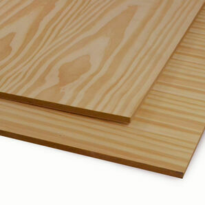 Veneered MDF Crown Pine Sheet - 2440mm x 1220mm