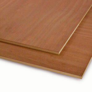 Crown Cut Sapele Veneered MDF - 2440mm x 1220mm
