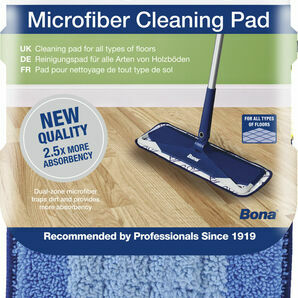 Bona Microfibre Floor Cleaning Pad - Blue
