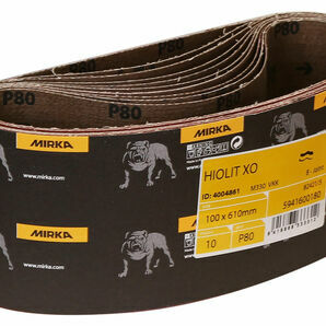 Mirka Hiolit XO Sanding Belt - 100 x 610mm (Pack of 10)