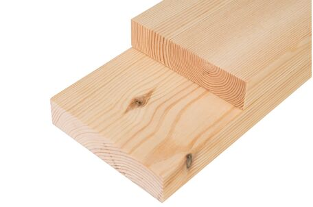 Extra Wide Planed All Round Unsorted Joinery Quality Redwood Pine Timber