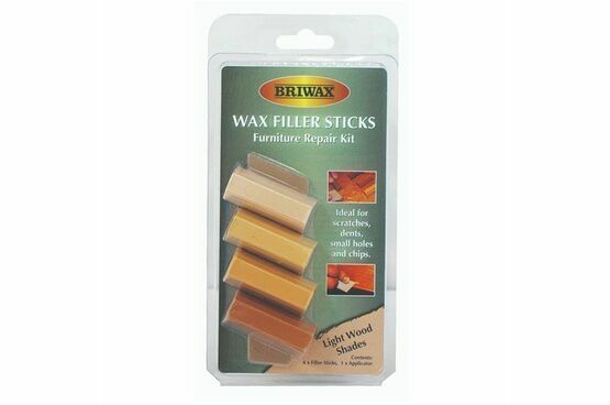 Briwax Wax Filler Stick Pack - Furniture Repair Kit