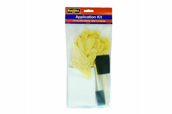 Rustins DIY Paint & Oil Application Kit (gloves, cloths & foam brushes)